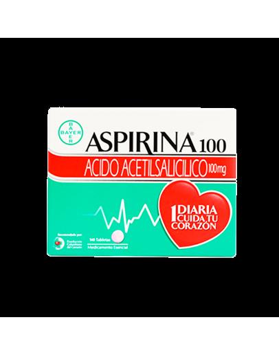 Aspirina 100 mg caja x 140tab