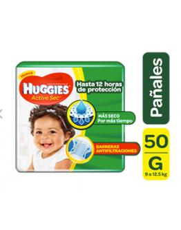 Pañales Huggies Active Sec Etapa 3 G x 50 und