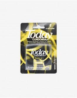 Condones Today preservativo punto G x 3und